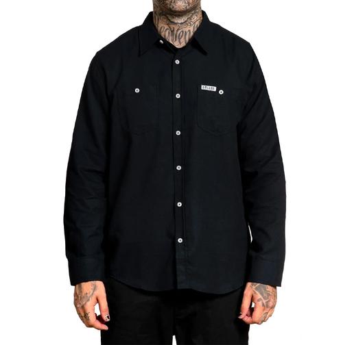 Chemise à manches longues du corbeau noir  SULLEN-SCM2478