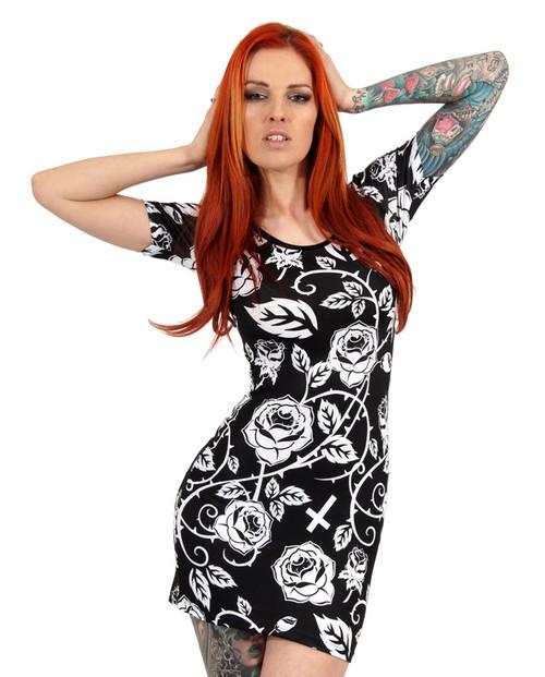 Liquor Brand Roses Dress Dress-012