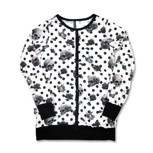 Liquor Brand Polka Skull Ladies Cardigan  LB-CAR-POLKA