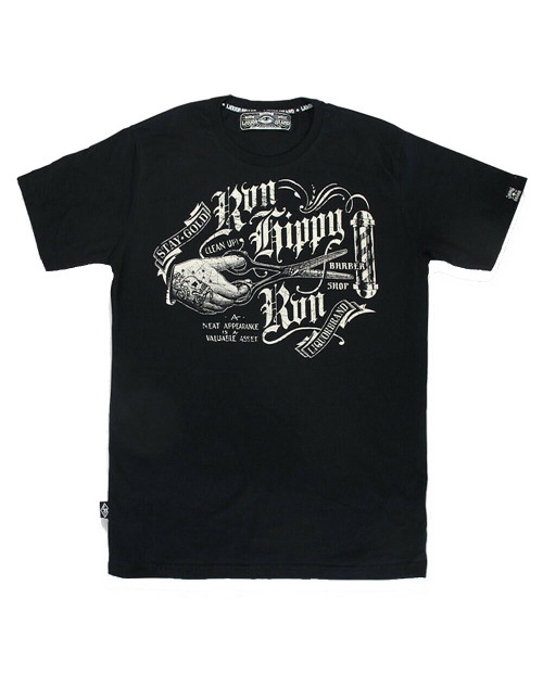 T-shirt Run Hippy Run de la marque Liquor LB-TSM-RHR