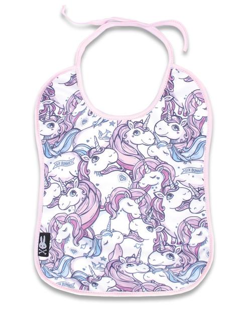 Six Bunnies Unicorn Pattern Bib  SB-BBI-18003