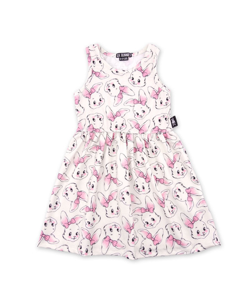 Six Bunnies Bunnies Kid's Dress  SB-KDR-19010