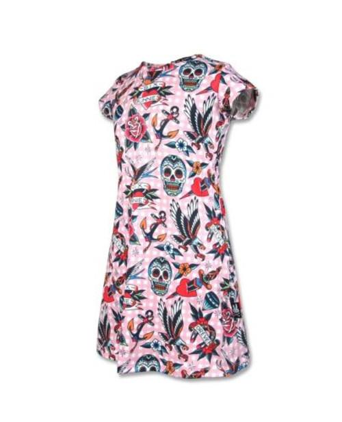 Six Bunnies Tattoo Shoppe Kid's Dress  SB-KDR-TS