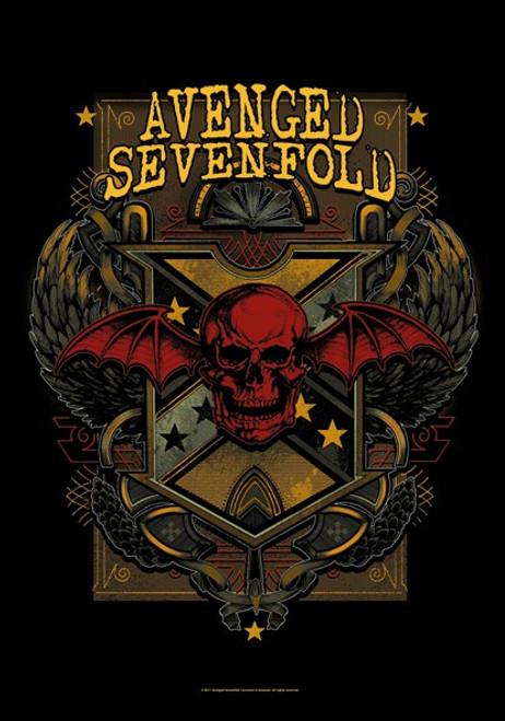 Avenged Sevenfold Death Crest Wall Flag  HFL1065
