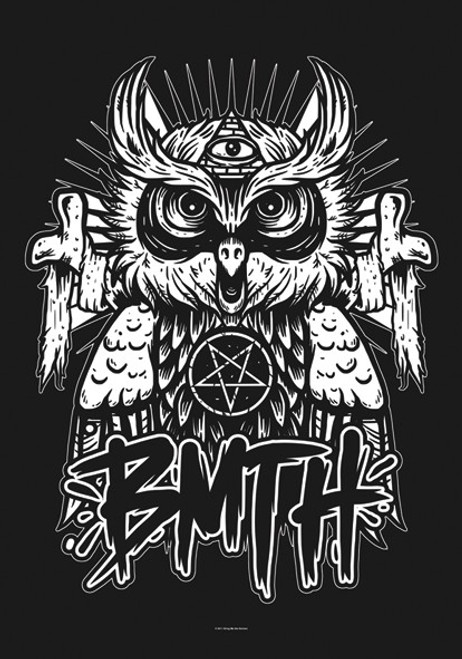 Bring Me the Horizon Owl Wall Flag  HFL1068