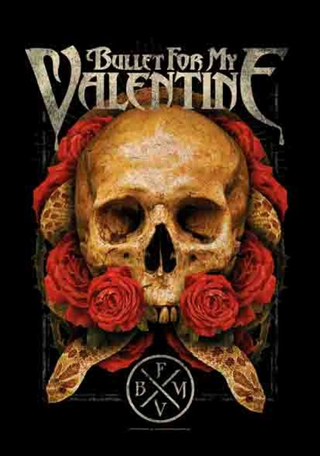 Bullet For My Valentine B.F.M.V. Serpent Roses Wall Flag HFL1143