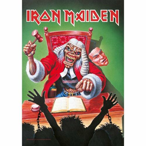 Iron Maiden Santa Judge Wall Flag  HFL1196