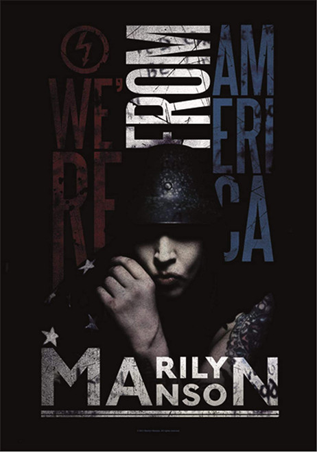 Marilyn Manson We're From America Wall Flag  HFL1089
