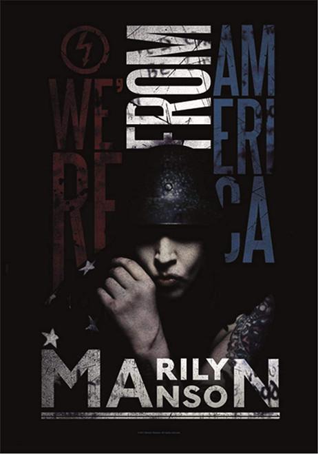 Marilyn Manson Nous venons d'Amérique Drapeau mural  HFL1089
