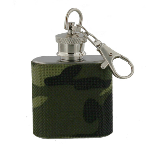 Porte-clé de la flasque Camo 1oz  FLASK-C-1