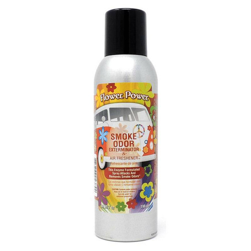 Smoke Odor Exterminateur 7oz Flower Power Air Freshener Spray  SOES-FP
