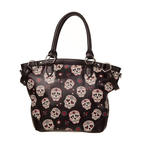 Banned Mesmerise Sugar Skull Handbag (BG-7026)