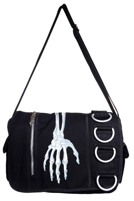 Banned Skeleton Hand Messenger Bag
