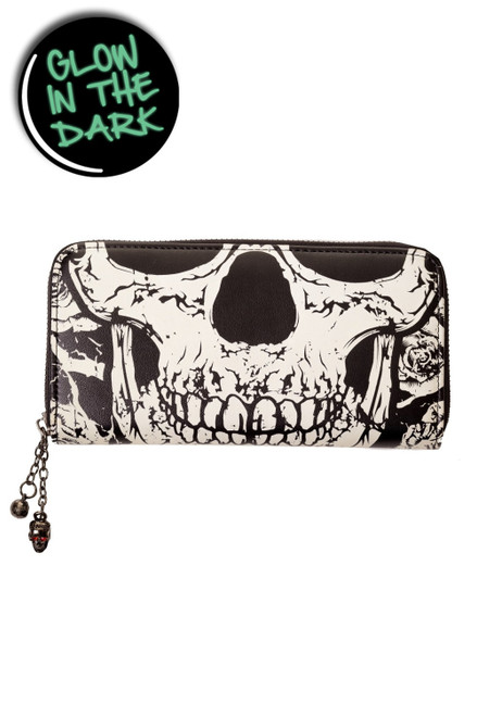 Banned Glow In The Dark Skull Face Wallet