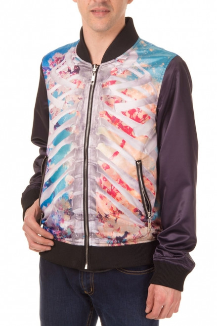 Banned Ribcage & Skull Reversible Jacket