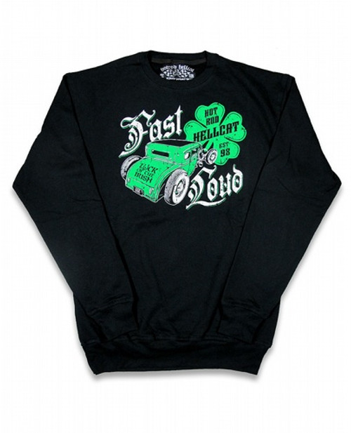 Hotrod Hellcat Irish Crew Neck Sweatshirt HR-MSW-00002-BLA