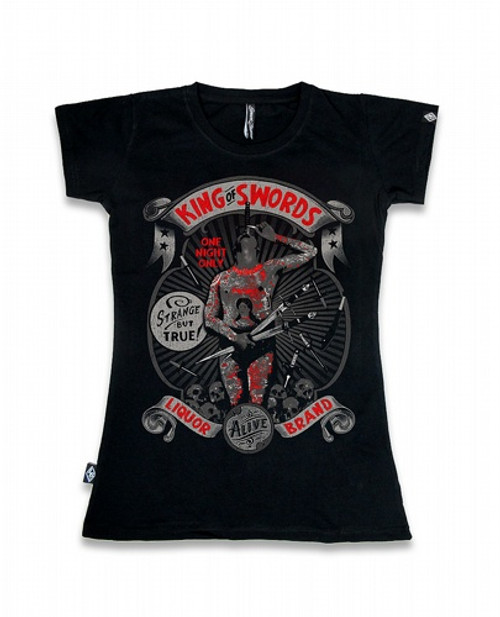 Liquor Brand King Of Swords - T-shirt pour femme  LB-GTS-00131