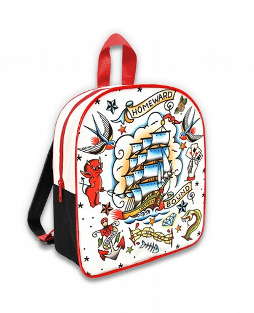 Six Bunnies Old School Kid's Backpack  SB-BPK-056