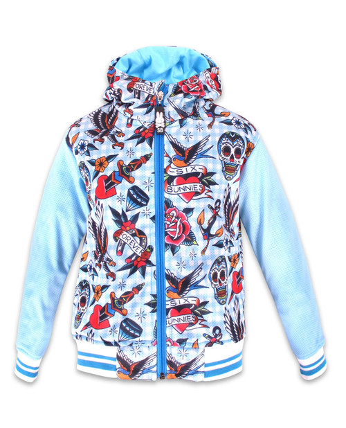 Six Bunnies Tattoo Shoppe Hooded Jackets  SB-KHD-046