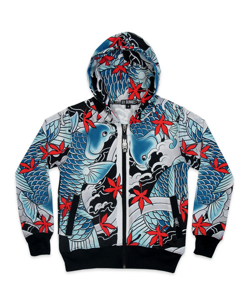 Six Bunnies Koi II Hooded Jackets  SB-KHD-036