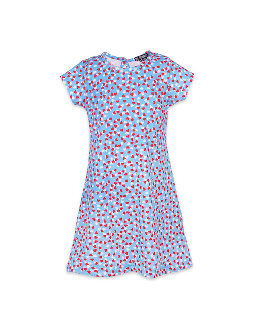 Six Bunnies Hearts Kid's Dress  SB-KDR-19007