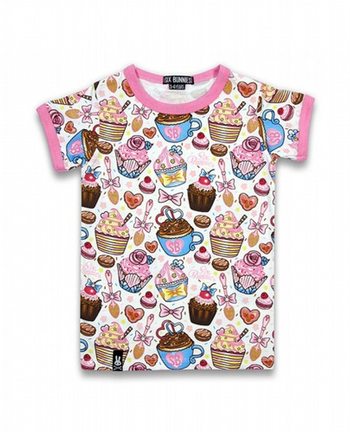 Six Bunnies Cupcakes Kids T-Shirt  SB-KTS-039