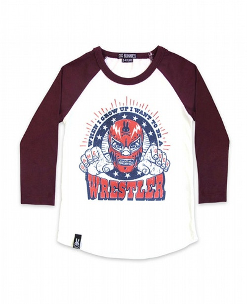 Six Bunnies Wrestler Kids Raglan Shirt  SB-RGL-00042
