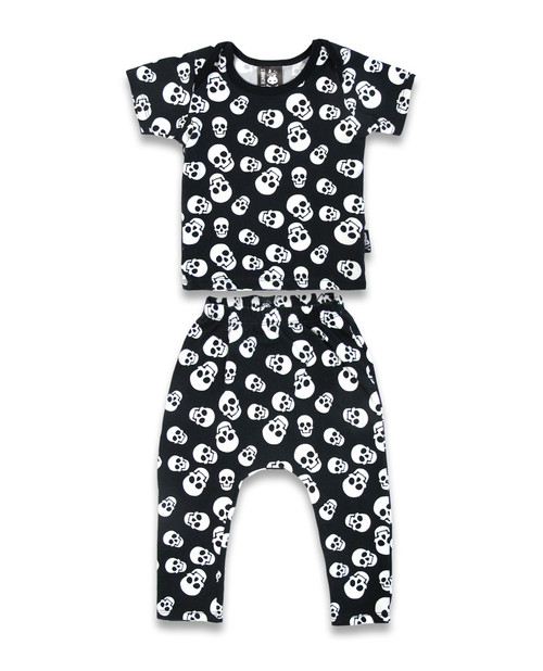 Six Bunnies Polka Skulls Baby Pyjama Set  SB-PJM-00008