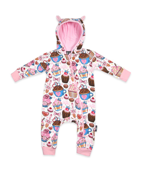 Six Bunnies Cupcakes Baby Playsuit  SB-PSH-00006