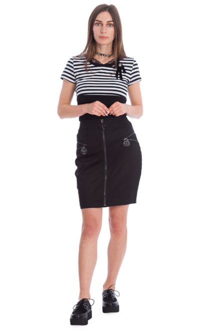 Banned Night Zip Skirt  SK25294
