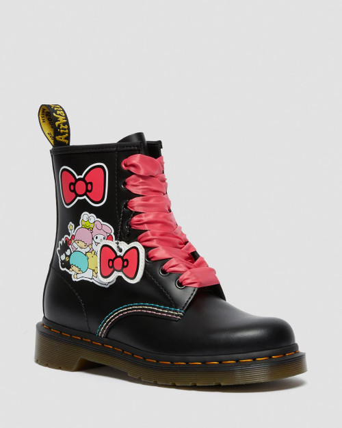 Bottes Dr. Martens Hello Kitty & Friends 1460 en cuir lisse à lacets