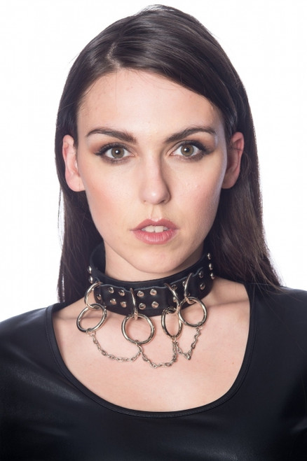 Banned Ring and Chain Studded Chocker AC2456