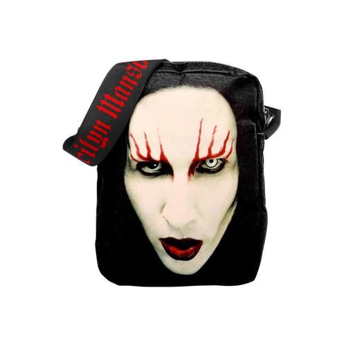 Rocksax Marilyn Manson Red Lips Crossbody Bag