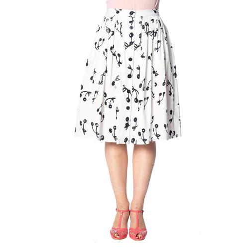 Banned Cherry Pop Front Button Skirt  SK25028