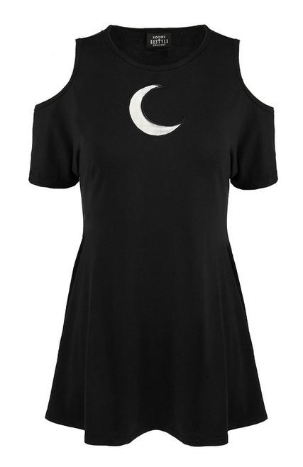 Restyle - Crescent Moon - Robe à épaule froide surdimensionnée RST-DR-CRES