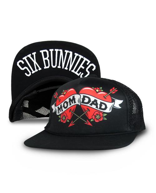 Six Bunnies Mom Dad Kid's Cap  SB-CAP-066