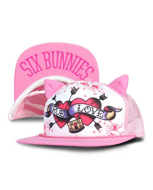 Six Bunnies True Love Pink Kid's Cap  SB-CAP-041