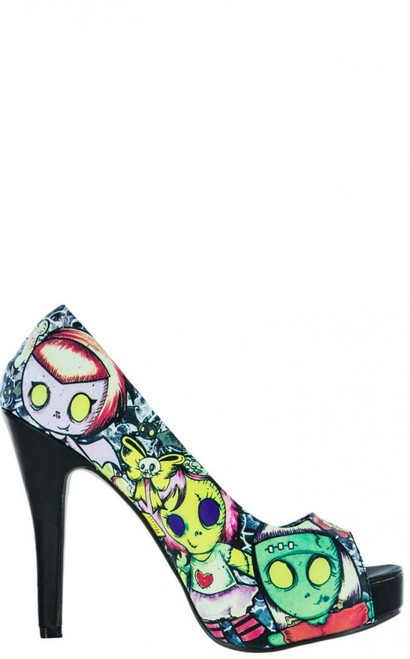 Iron Fist Cool Ghoul Peep Toe Platform