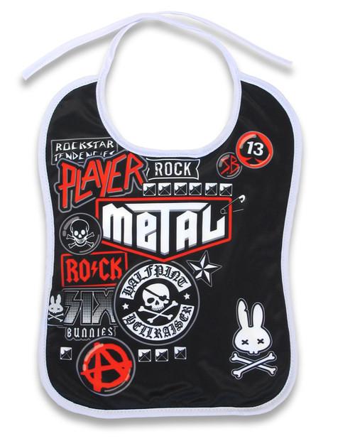 Metal Fan Baby Bib BIB-033
