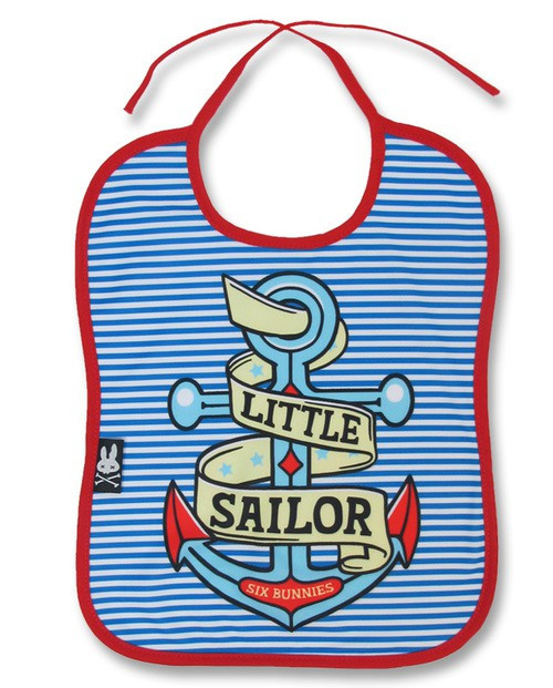 Six Bunnies Little Sailor Baby Bib