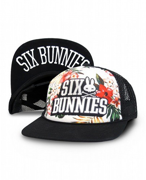 Six Bunnies Aloha White Kid's Cap