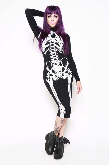 Iron Fist Wishbone LS Midi Dress