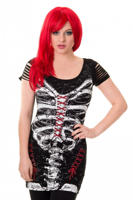 Banned Corset Skeleton Top  OBN-121