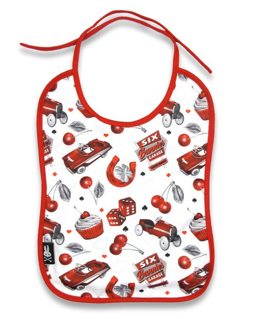 Six Bunnies HotRod Cherry Baby Bib