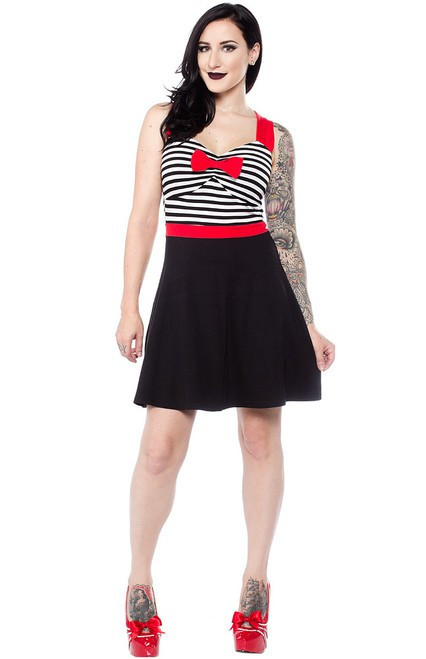 Sourpuss Sweetheart Dress Black & White