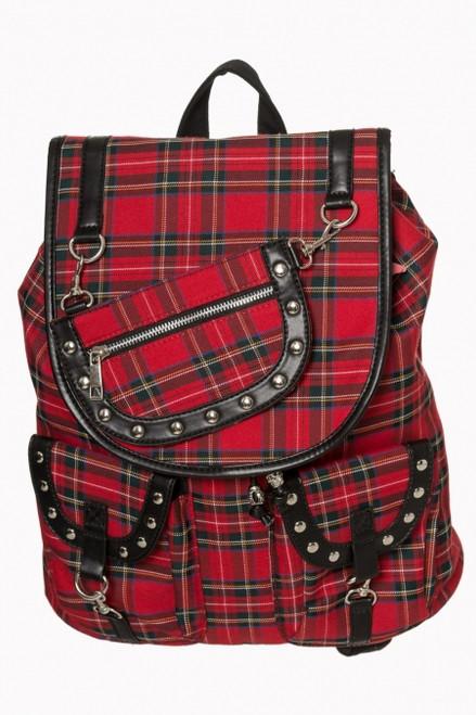 Banned Red Tartan Backpack BG-7152