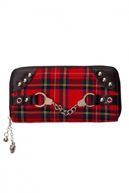 Banned Red Tartan Handcuff Wallet