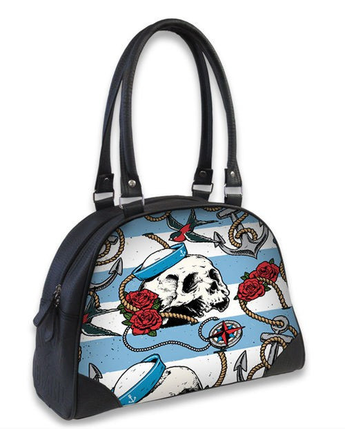 Liquor Brand Nautical Skull Bowling Bag
