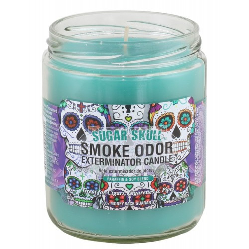 Smoke Odor Bougie Sugar Skull 13oz