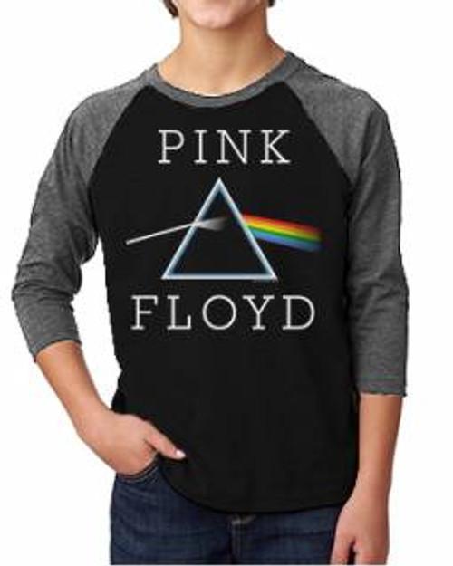 Pink Floyd Darkside Of The Moon Kids Raglan Tee